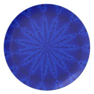 Dicha azul plato