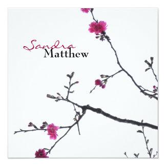 Dicha de la primavera/boda floreciente del cerezo invitacion personal