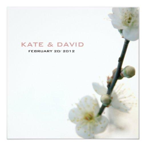 Dicha de la primavera/personalizado de la flora invitación 13,3 cm x 13,3cm