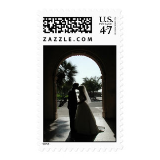 Dicha del día de boda timbre postal