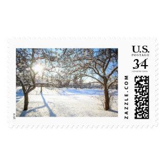 Dicha del invierno sellos postales