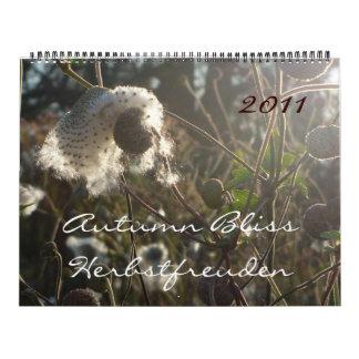 Dicha del otoño/calendario de calendario de pared
