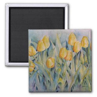 Dicha del tulipán iman para frigorífico