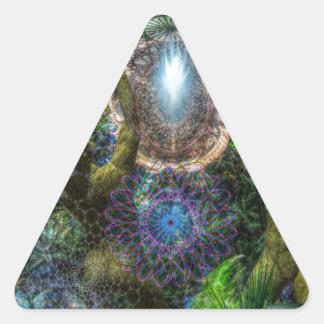 Dicha Pegatina Triangular