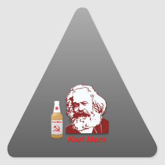 Dicha roja: La cerveza de la gente Pegatina Trianguladas Personalizadas