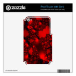 Dicha roja negra del fractal iPod touch 4G calcomanías