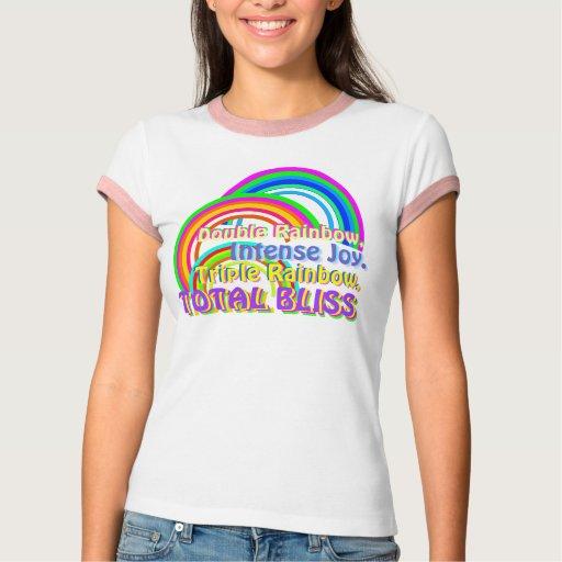 Dicha triple del total del arco iris playera