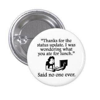 Dicho nadie nunca: Gracias por la actualización de Pin