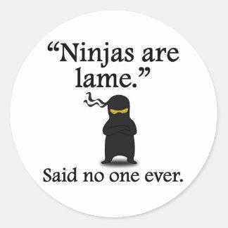 Dicho nadie nunca Ninjas es cojo Pegatinas