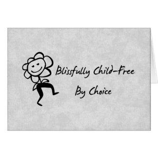 Dichosamente Niño-Libre Tarjeta De Felicitación