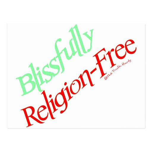 Dichosamente Religión-Libre Postal