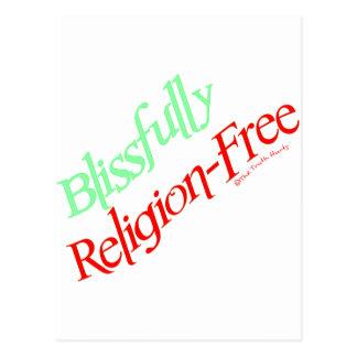 Dichosamente Religión-Libre Tarjeta Postal