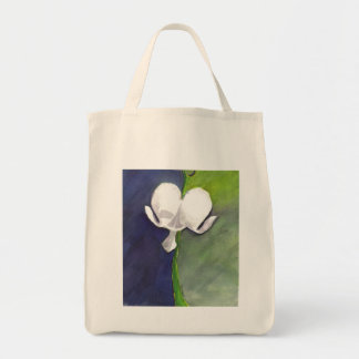 Dichotomy Floral Organic Grocery Bag