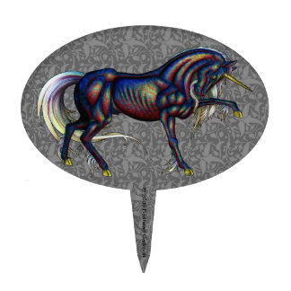 Dichroicorn Cake Pick Oval