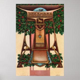 Diciembre - Capricornio Posters