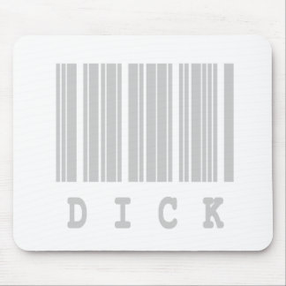 dick barcode design mouse pad