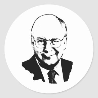 Dick Cheney .png Pegatina Redonda