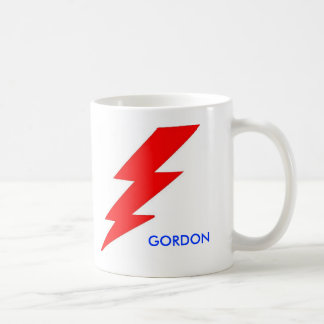 DICK GORDON CLASSIC WHITE COFFEE MUG