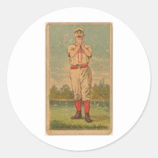 Dick Johnston, Boston Beaneaters Classic Round Sticker