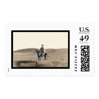 Dick Latham Riding on Open Plains WY 1888 Stamps
