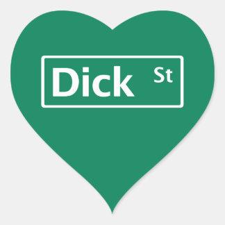 Dick Street, Road Sign, New Jersey, USA Heart Sticker