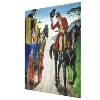 Dick Turpin (1706-39) from 'Peeps into the Past', Canvas Print