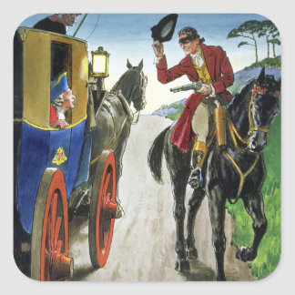 Dick Turpin (1706-39) from 'Peeps into the Past', Square Sticker