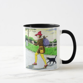 Dick Whittington (1358-1423) and his cat, from 'Pe Mug