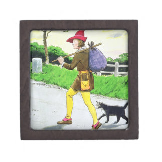 Dick Whittington (1358-1423) and his cat, from 'Pe Premium Trinket Boxes