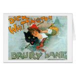 Dick Whittington, Vintage poster Greeting Card