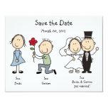 Dick y Jane lindos ahorran las tarjetas de fecha Invitación 10,8 X 13,9 Cm