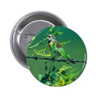 Dickcissel Pin Redondo 5 Cm