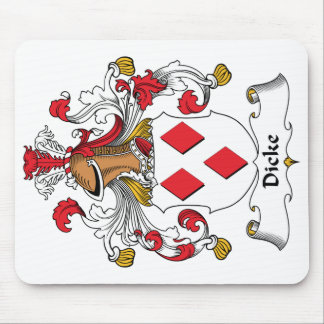 Dicke Family Crest Mouse Pad