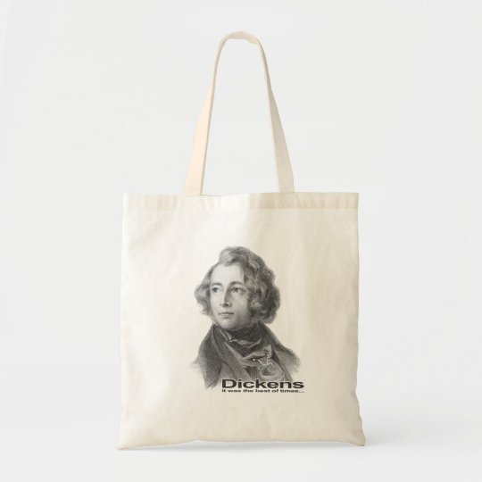 Dickens-Best of TImes bag-BW Tote Bag