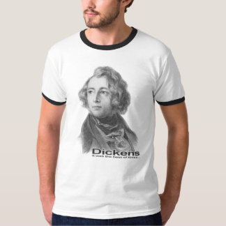 Dickens-Best of TImes ringer-BW T-Shirt