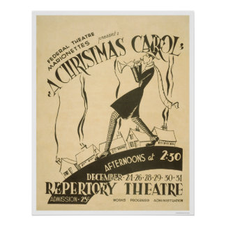 Dickens Christmas Carol 1938 WPA Print