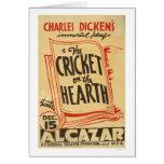 Dickens Cricket On Hearth 1938 WPA Card
