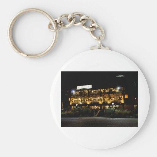 Dickens Inn Pub st Katherines Dock London Basic Round Button Keychain