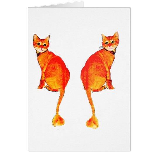 Dickens Kitty Card