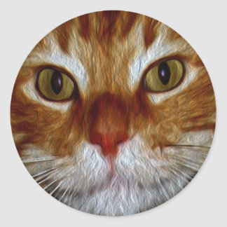 Dickens Kitty Gifts & Greetings Classic Round Sticker