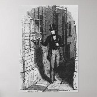 Dickens que coloca su primer literario póster