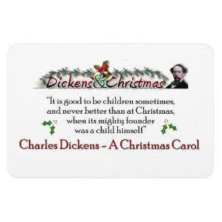 Dickens un imán de la cita del villancico del navi