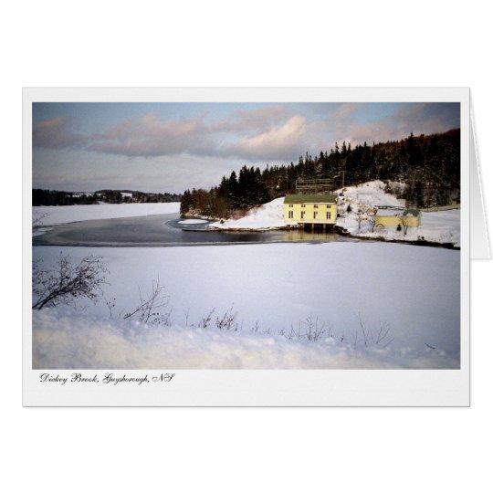 Dickey Brook Hydro Power Station - Greeting Card