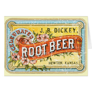 Dickey Root Beer-1899 - distressed Greeting Card