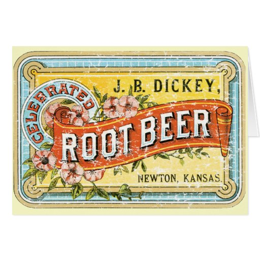 Dickey Root Beer-1899 - distressed Greeting Card