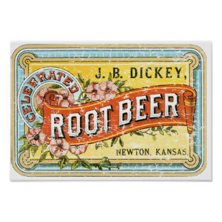 Dickey Root Beer-1899 - distressed Poster