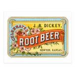 Dickey Root Beer Postcard