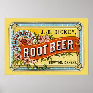Dickey's Vintage Root Beer Ad - Print