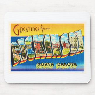 Dickinson North Dakota ND Vintage Travel Souvenir Mouse Pad