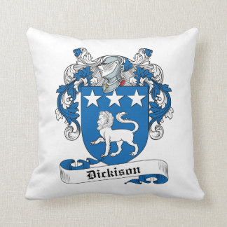 Dickison Family Crest Throw Pillow